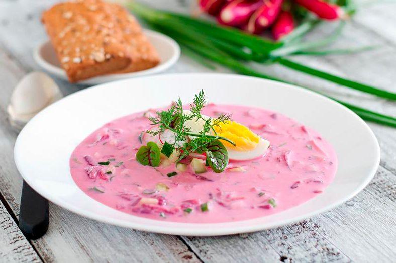 Рецепты холодных супов на лето с фото
