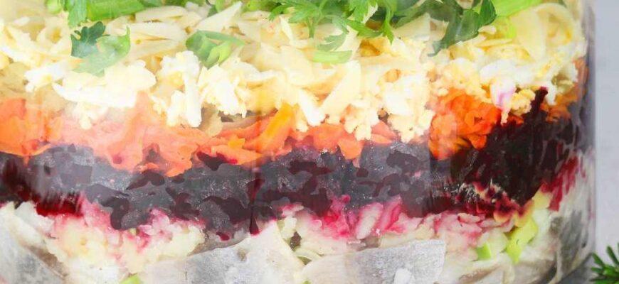 Селедка под шубой - пошаговый рецепт с фотографиями-4
