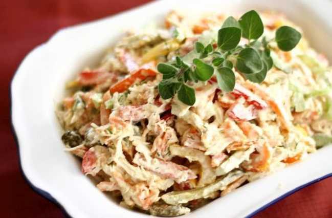 Праздничный салат со стейками